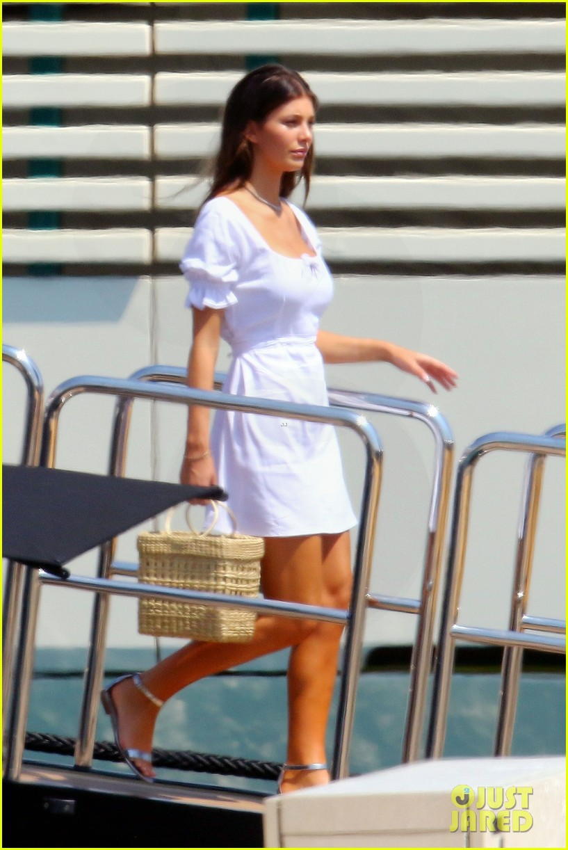 leonardo dicaprio relaxes on a yacht with camila morrone 604123244