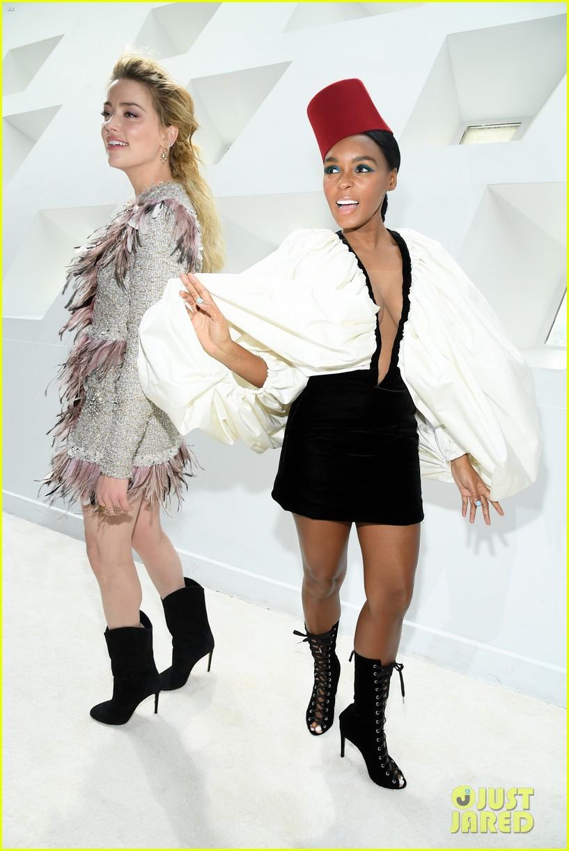 amber heard janelle monae buddy up at giambattista valli paris fashion show 164251227