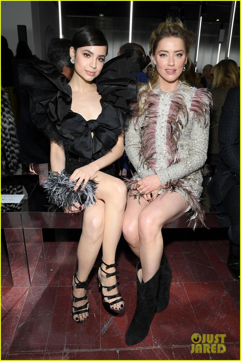 amber heard janelle monae buddy up at giambattista valli paris fashion show 304251241