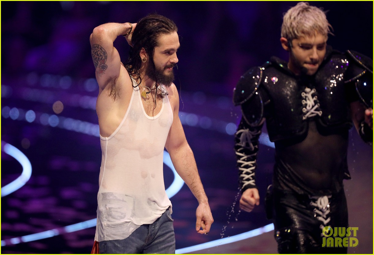 heidi klum joined by tyra banks fiance tom kaulitz at germanys next top model live final 114297792
