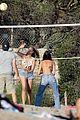 leonardo dicaprio beach volleyball camila morrone friends 38