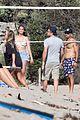 leonardo dicaprio beach volleyball camila morrone friends 76