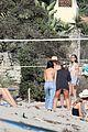 leonardo dicaprio beach volleyball camila morrone friends 80