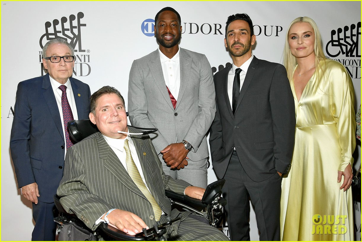 dwyane wade and lindsey vonn team up for great sports legends dinner paralysis 064367596