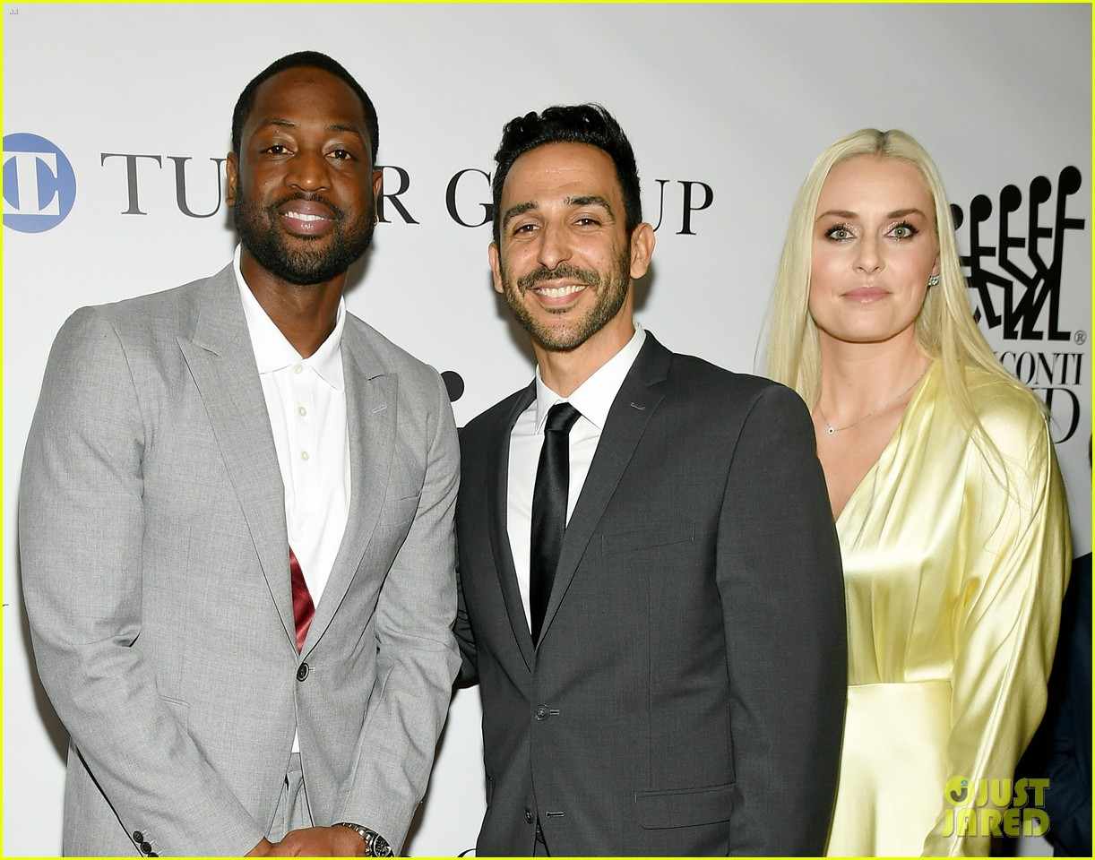 dwyane wade and lindsey vonn team up for great sports legends dinner paralysis 314367621