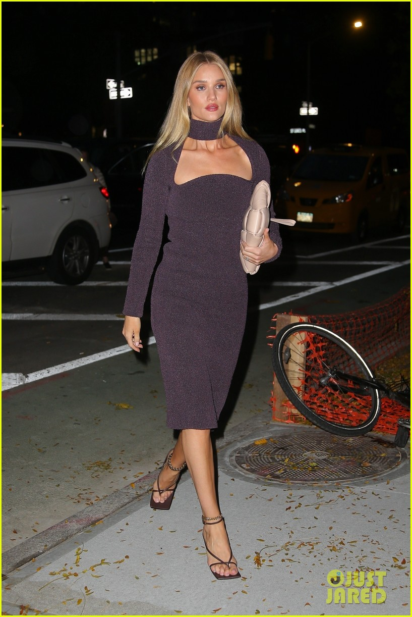 The street is her catwalk! Rosie Huntington-Whiteley is