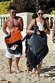 simon cowell fit physique on the beach with lauren silverman 03