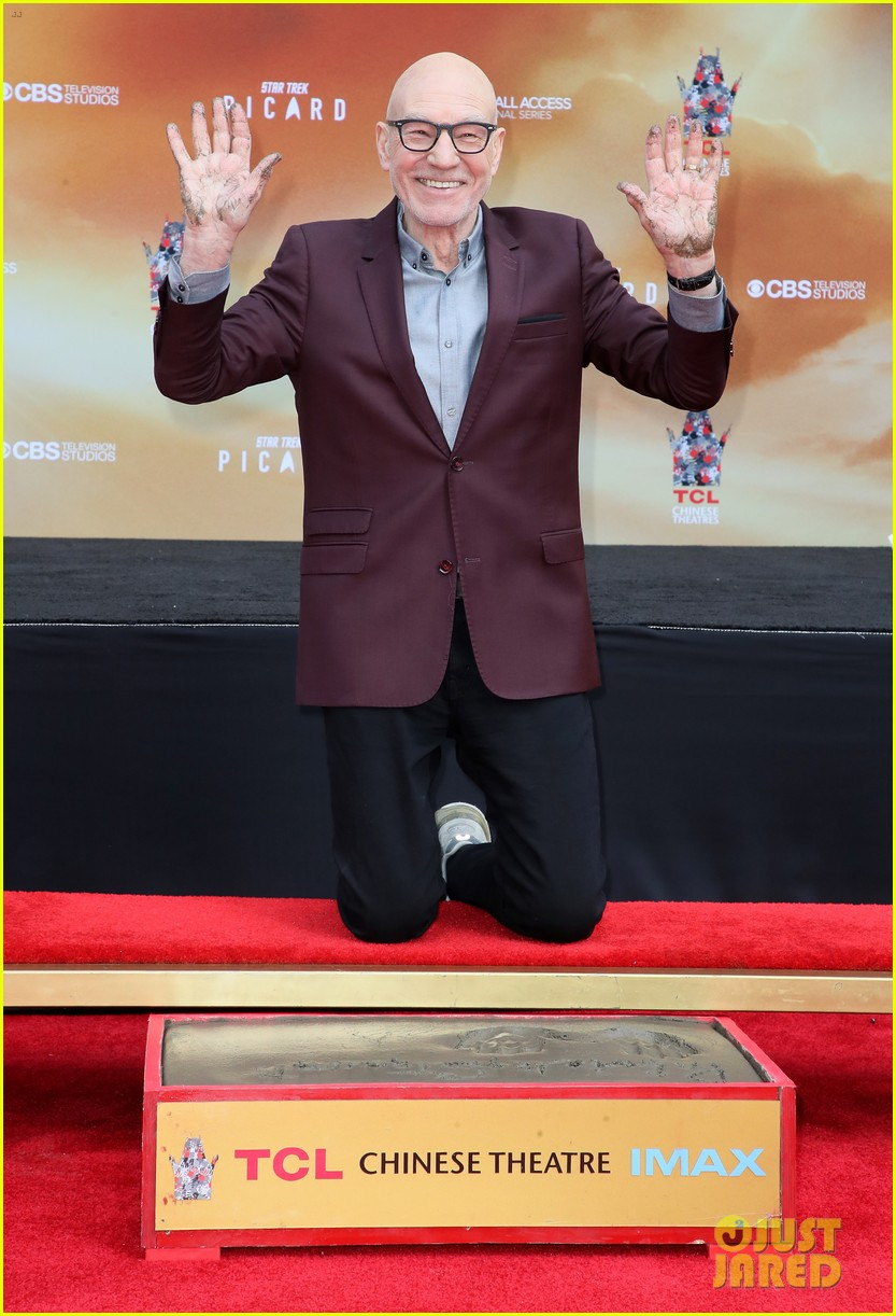 patrick stewart honored hand foot ceremony in hollywood 114415617