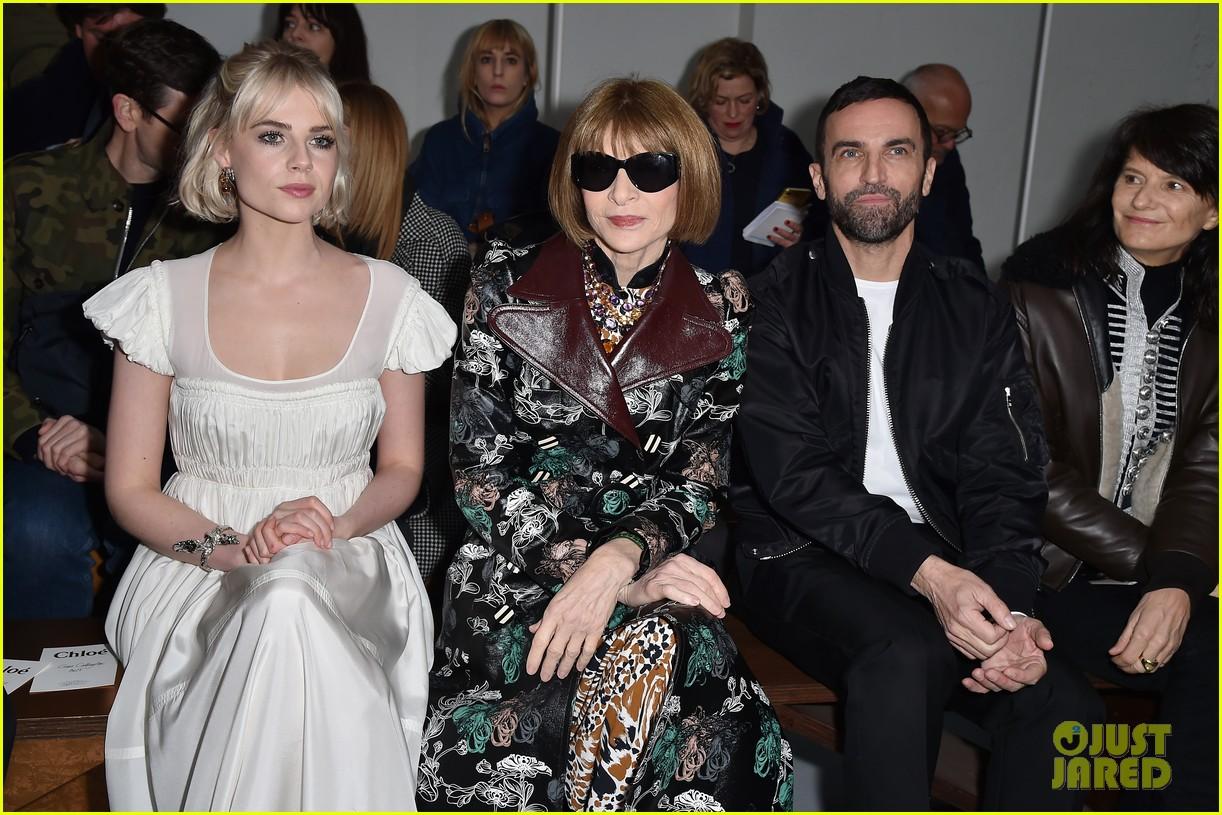 katie holmes lucy boynton kate bosworth sit front row at chloe paris fashion show 204442934