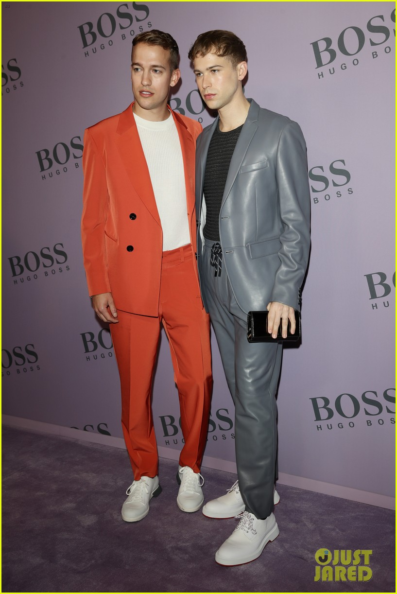 madelaine petsch surrounds herself with friends at boss fashion show in milan 054441145