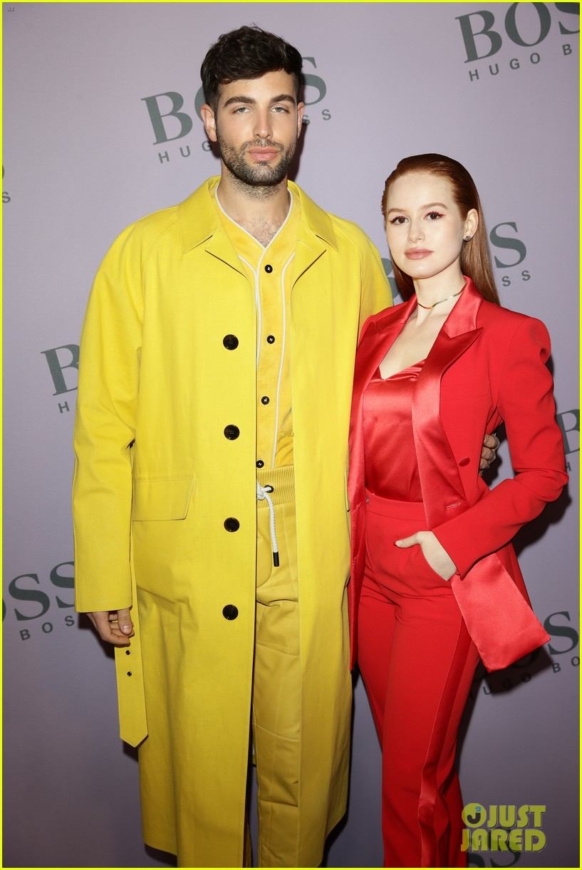 madelaine petsch surrounds herself with friends at boss fashion show in milan 164441156