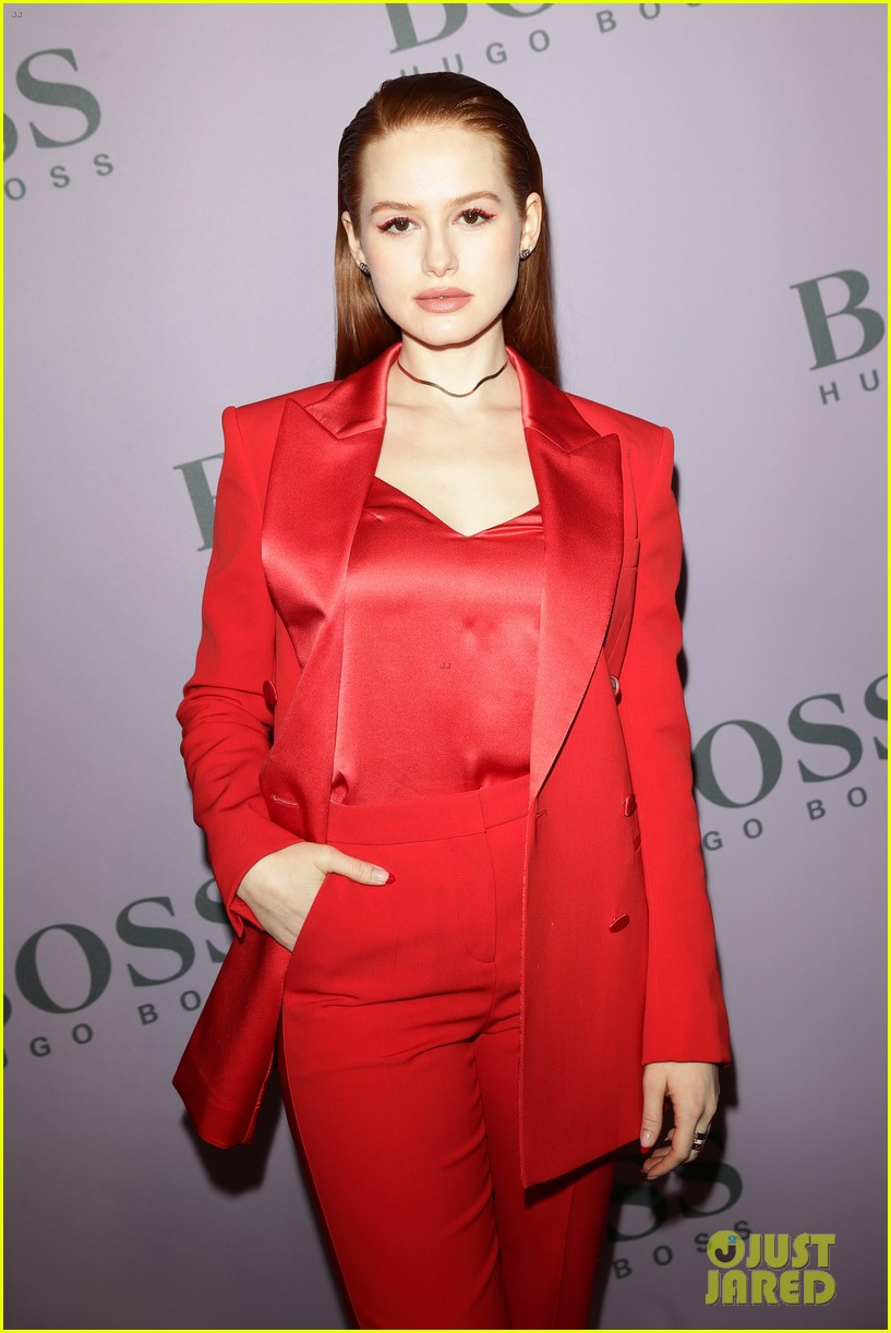 madelaine petsch surrounds herself with friends at boss fashion show in milan 224441162
