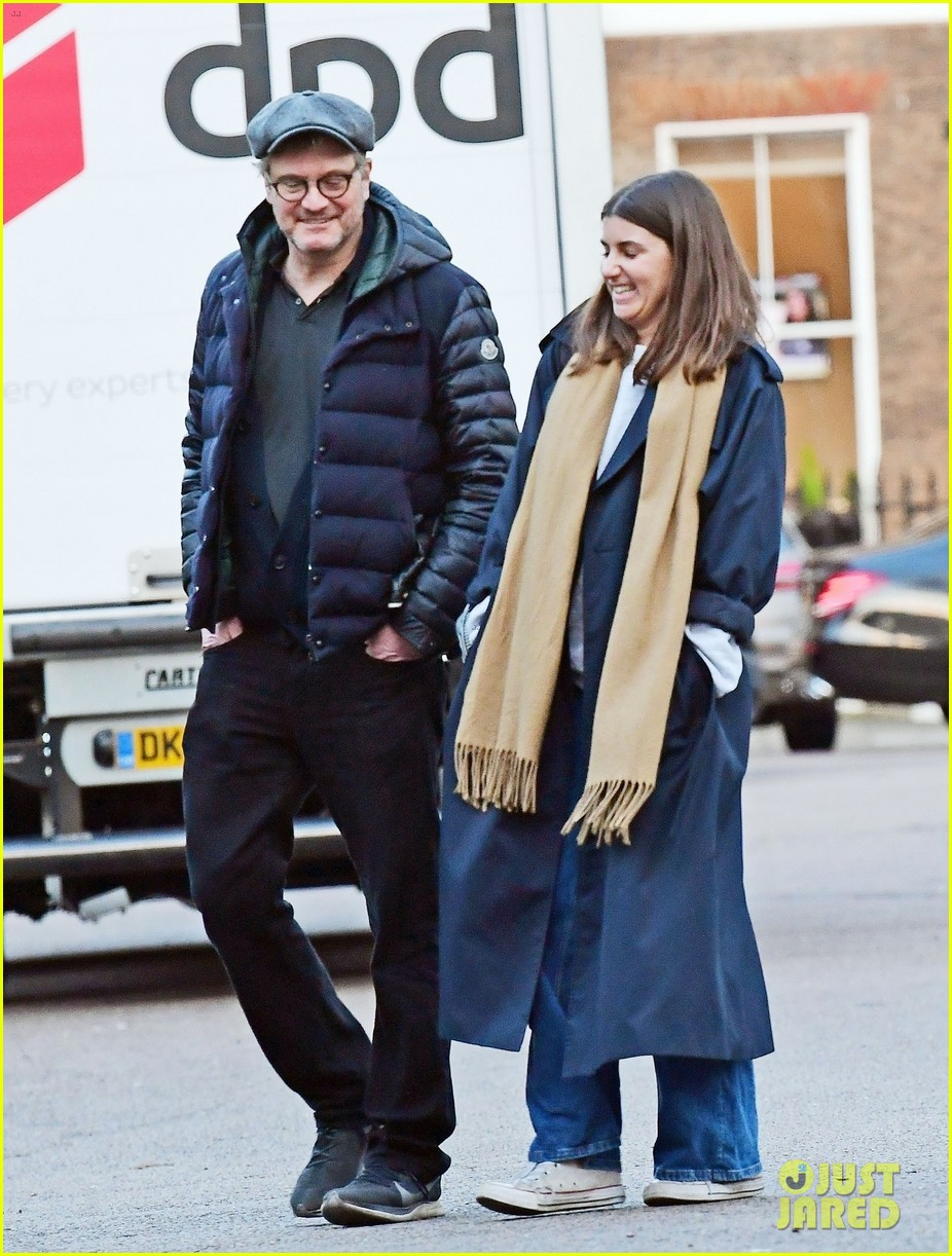 colin firth day out mystery woman split from wife livia 054447149