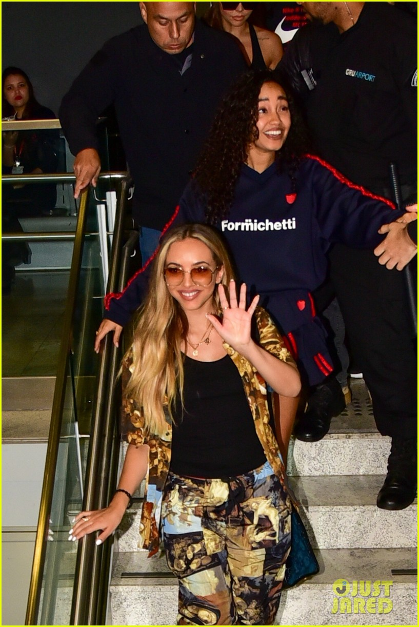 little mix touches down in brazil without perrie edwards 064447139