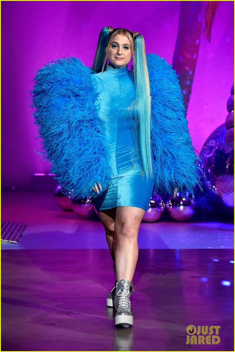 meghan trainor is bubbles at christian cowans powerpuff girls runway show 254447541