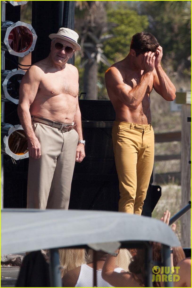 jake picking shirtless with zac efron 224458532