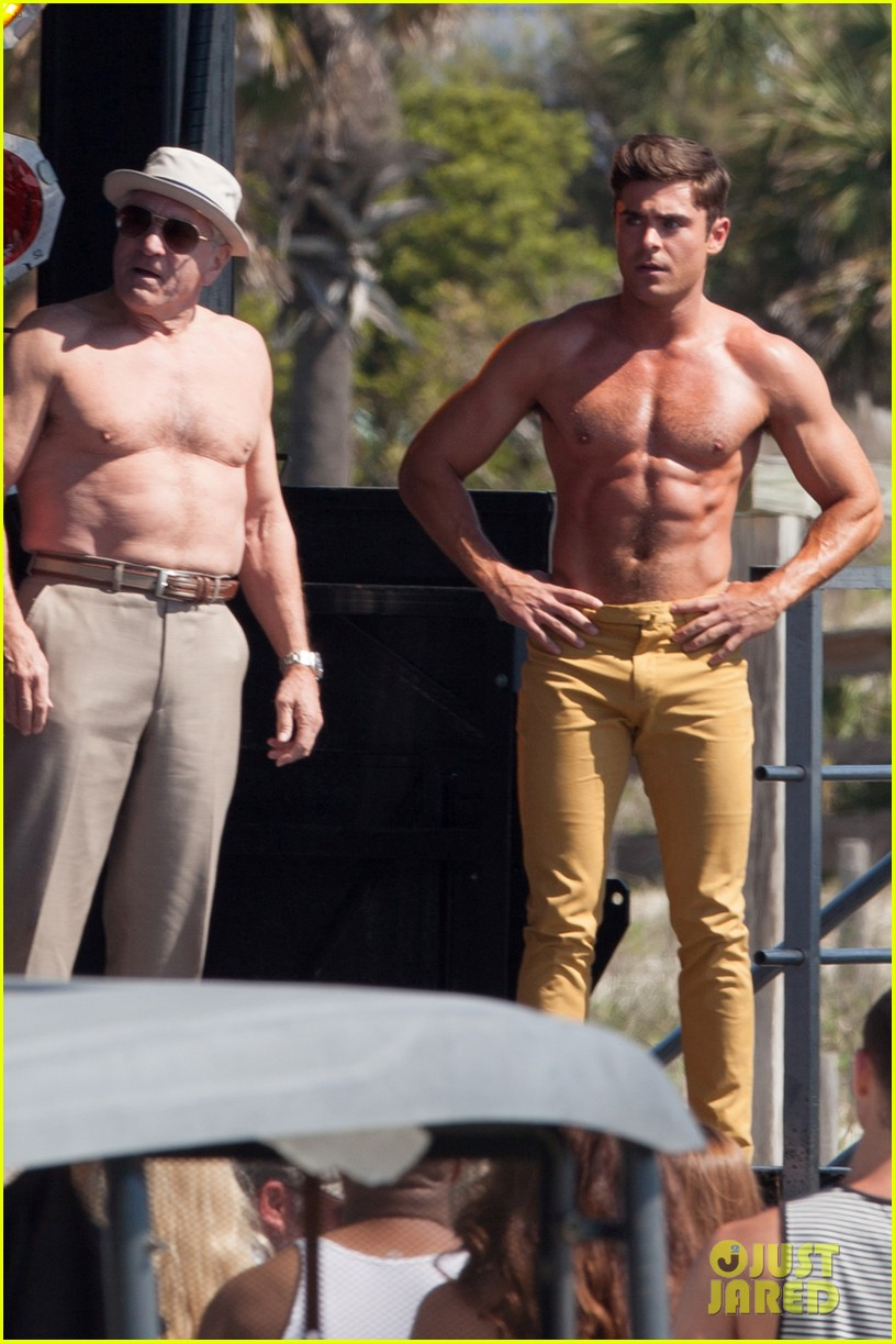 jake picking shirtless with zac efron 234458533