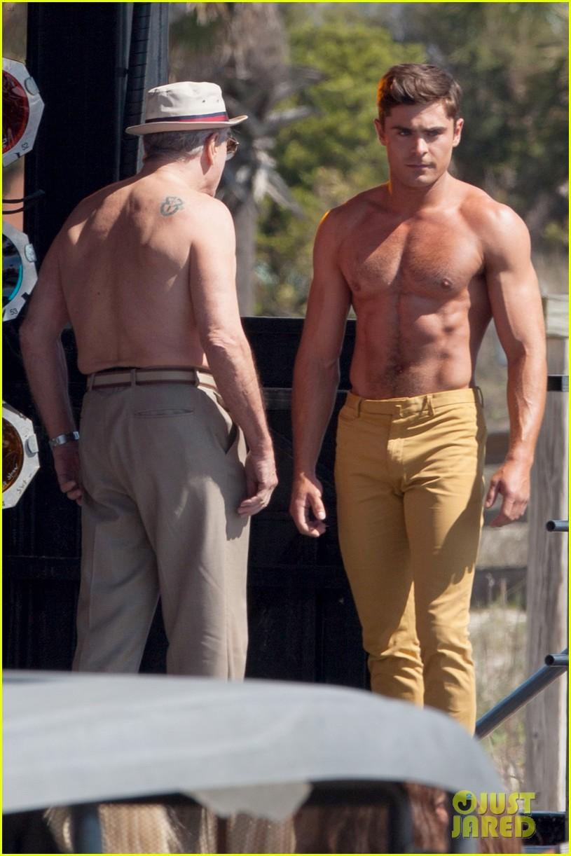 jake picking shirtless with zac efron 244458534