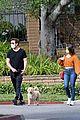 dylan mcdermott walks his dog with model erica souza 05