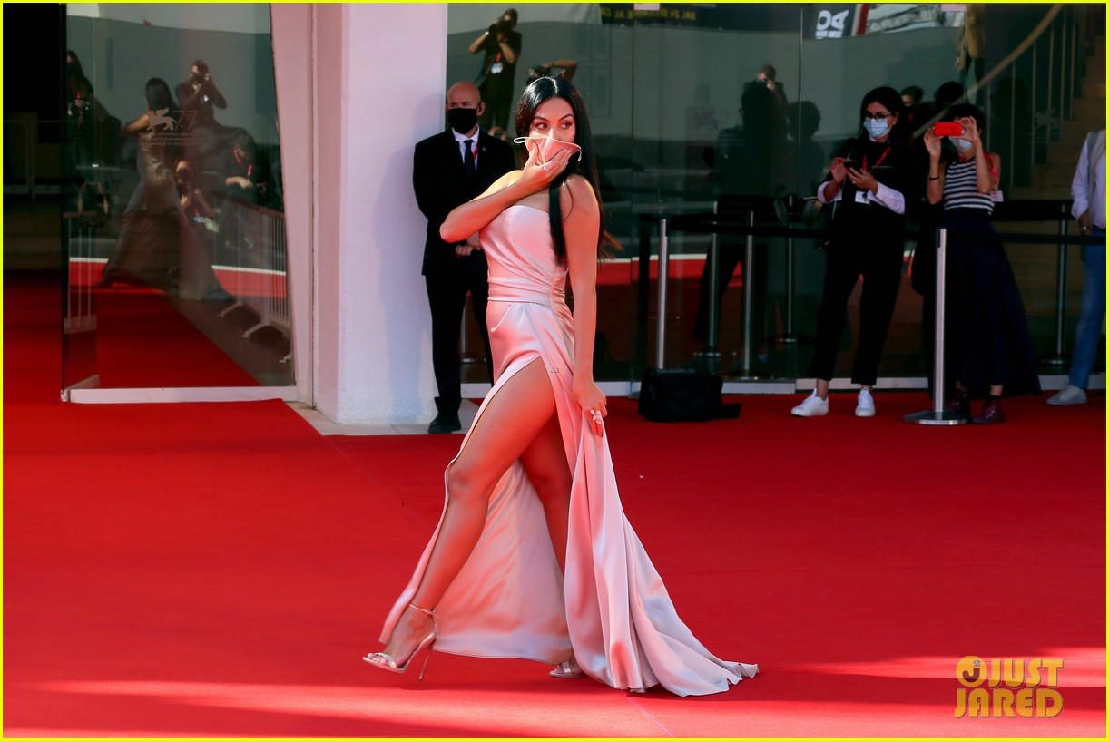 georgina rodriguez lots of leg venice film festival 224480045