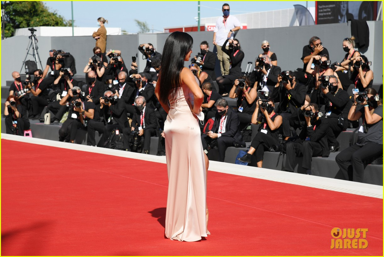 georgina rodriguez lots of leg venice film festival 344480057