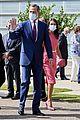 queen letizia pink dress third time wearing heraldado anniversary king felipe 06