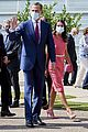 queen letizia pink dress third time wearing heraldado anniversary king felipe 07