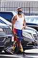 nelly looks buff going shirtless leaving dwts rehearsals 06