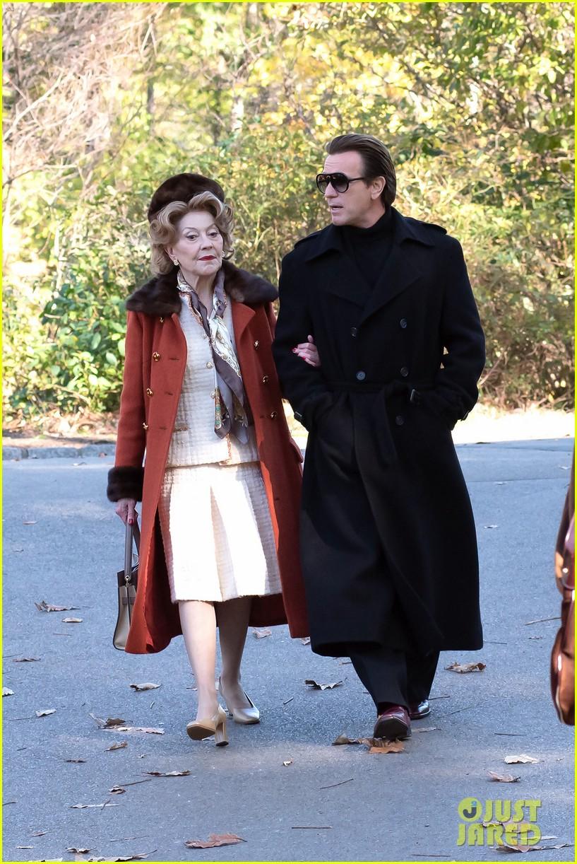 ewan mcgregor kelly bishop go for a stroll filming simply halston 064497994