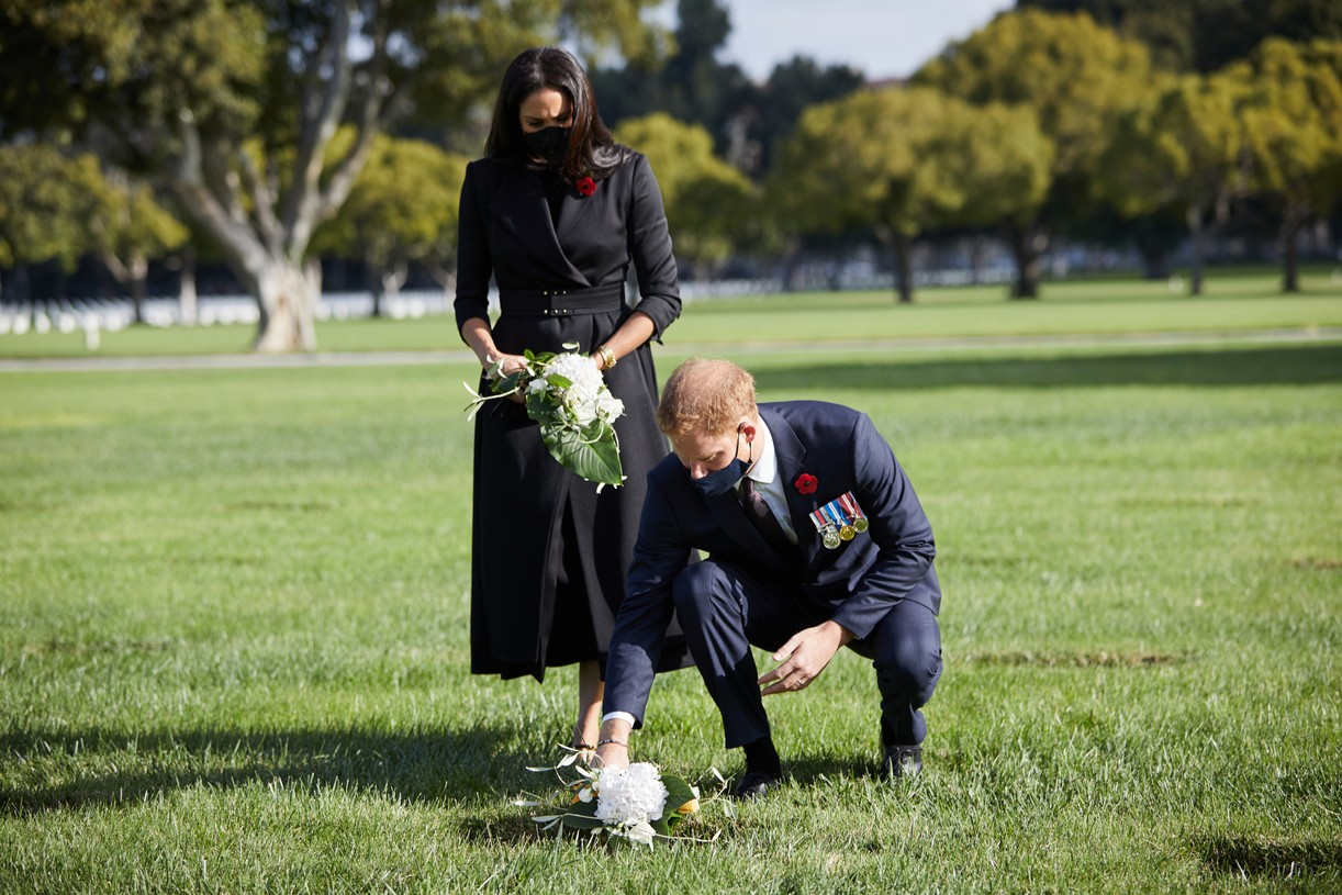 meghan markle prince harry remembrance day la 024498777