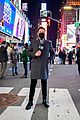 ryan seacrest lucy hale billy porter in times square 18