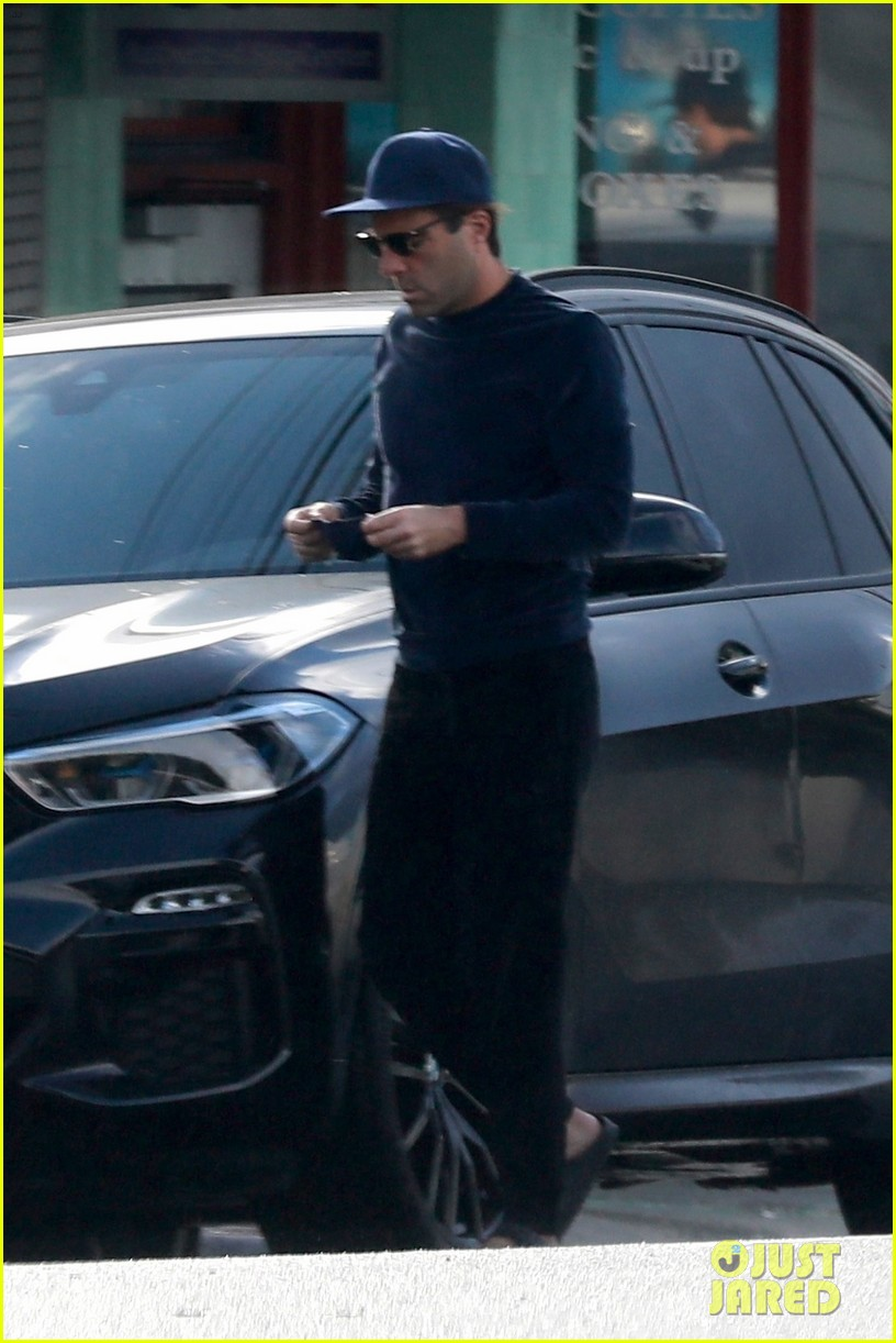 zachary quinto cool in blue picking up breakfast 214512447