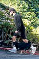 chace crawford wears all black while walking his dog 01
