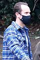 lily collins charlie mcdowell mask up walking dog 04