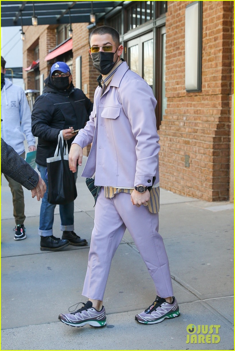 nick jonas cool fashion in nyc 324527718