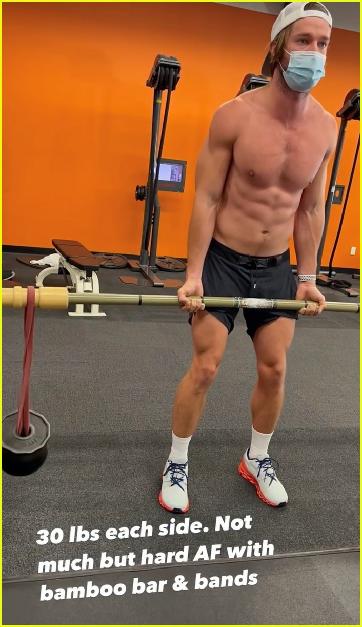 patrick schwarzenegger ripped body workout 044521678