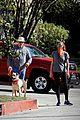 jon hamm anna osceola take his dog for afternoon walk 01