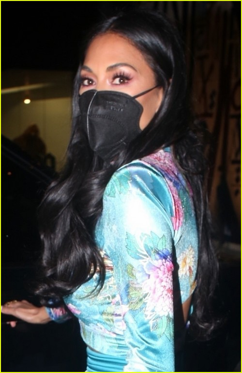 nicole scherzinger colorful outfit for dinner 044530036