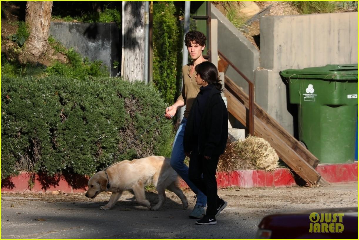 shawn mendes camila cabello share kiss walking dog 314535224