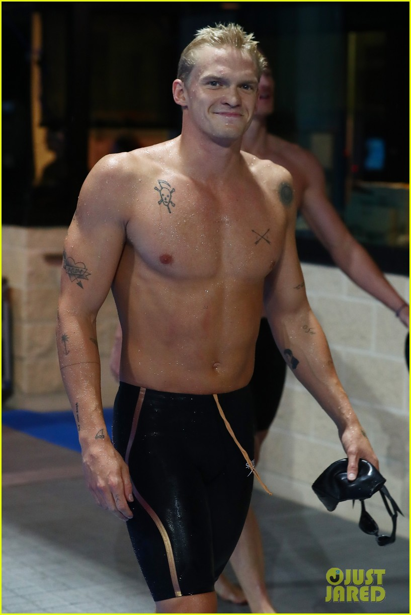 cody simpson marloes stevens aussie swim race pics 414544249