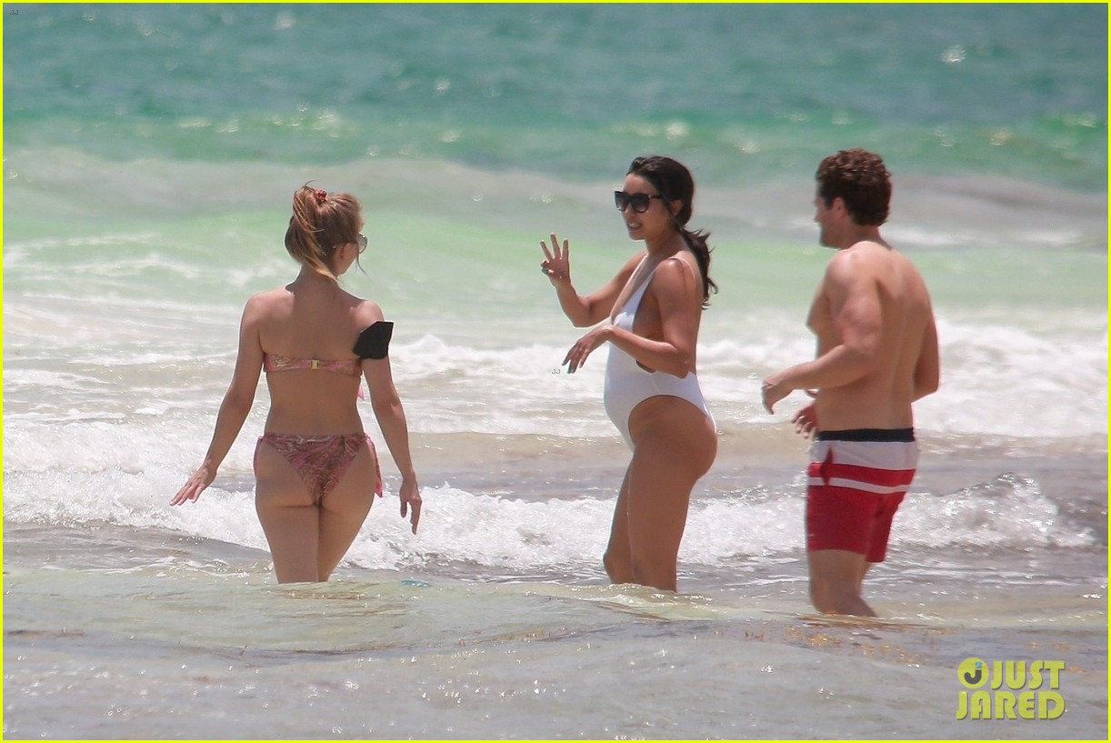 julianne hough goes for dip in ocean mexican vacation 424549539
