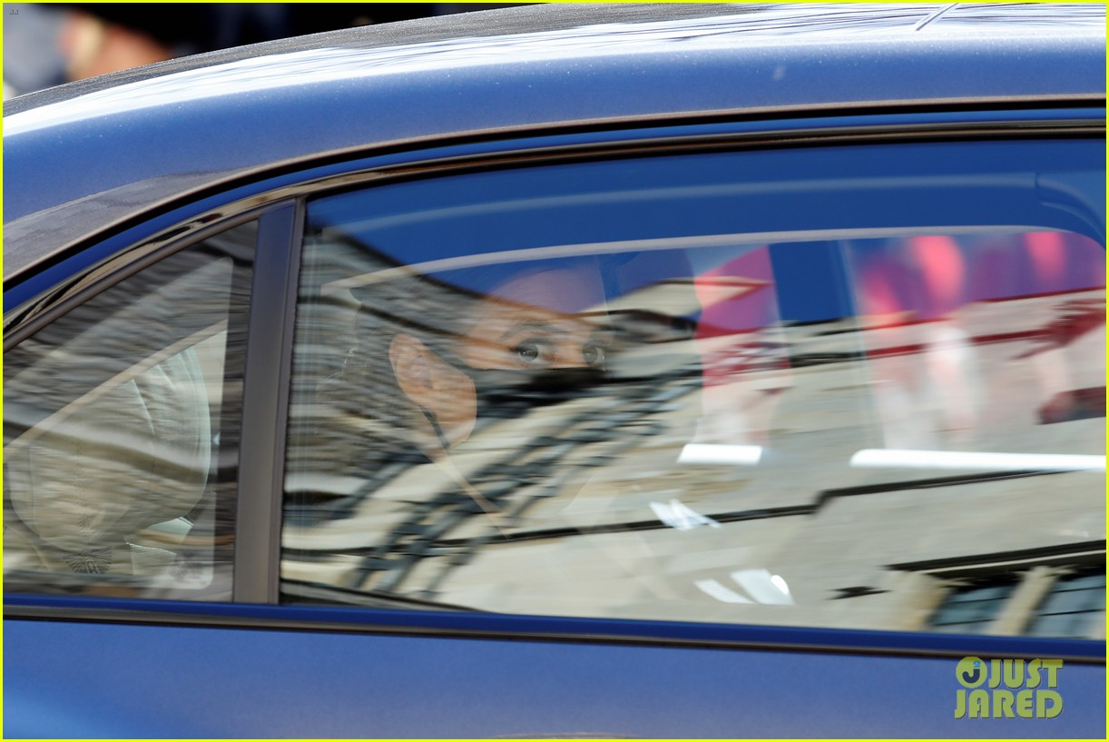 princess beatrice and eugenie arrive funeral 02