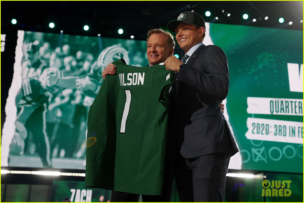 zach wilson at the nfl draft 054549864