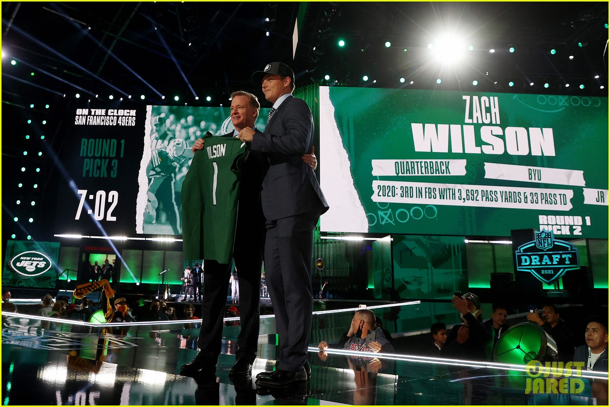 zach wilson at the nfl draft 074549866