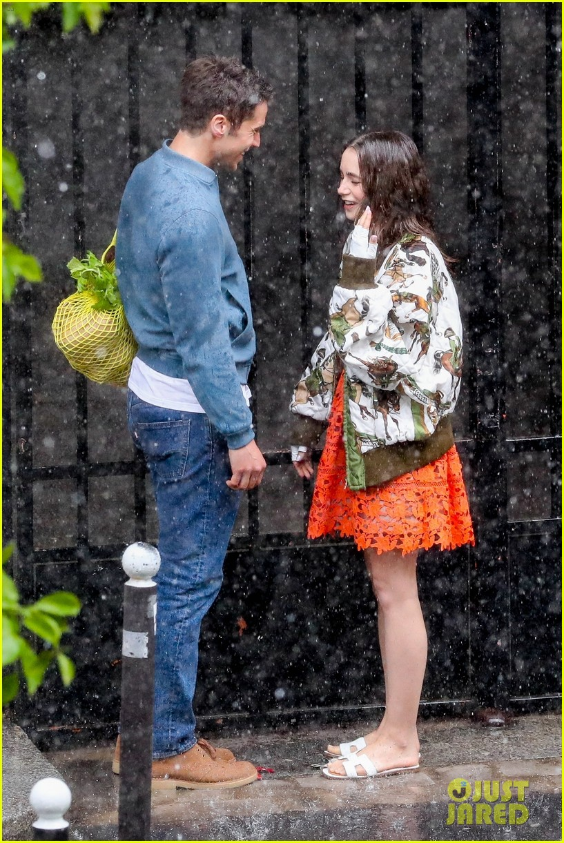 lily collins caught in rain with lucas bravo emily in paris 424558018