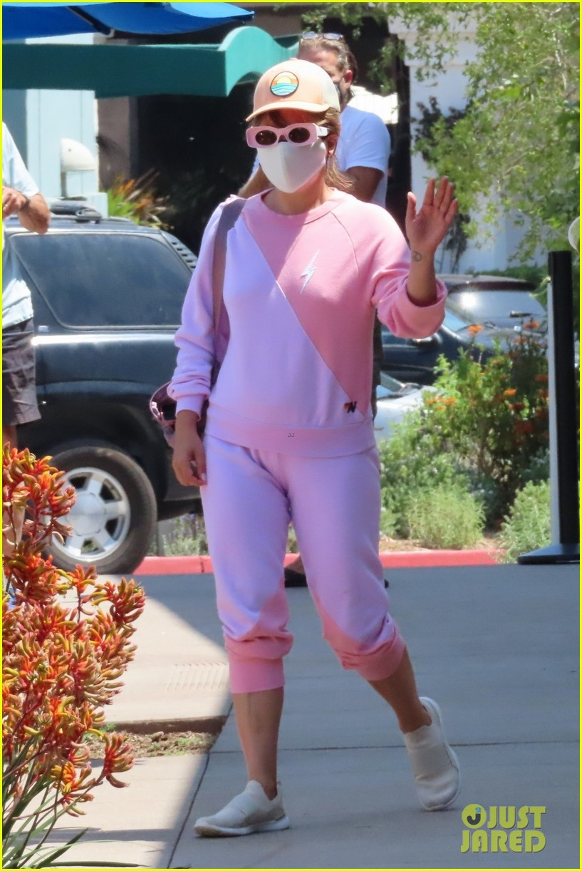 lady gaga heads out in malibu in all pink 034557768