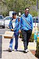paris hilton carter reum coordinate blue outfits for lunch 05