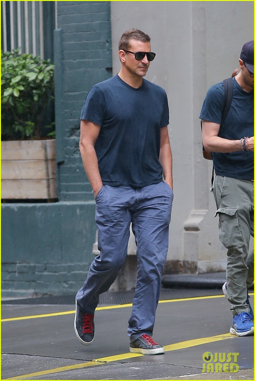 bradley cooper meets up with a friend for walk around nyc 054575762