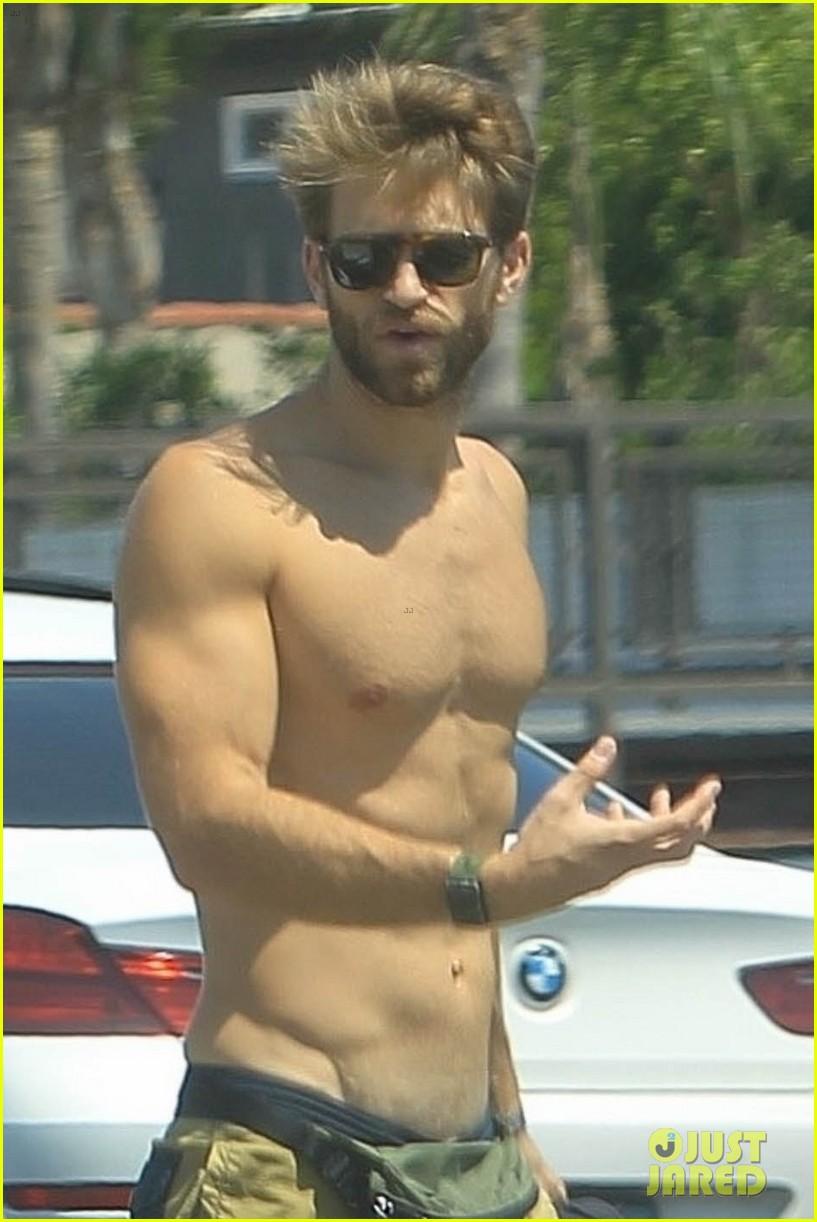 keegan allen goes shirtless on walk with girlfriend 054579083