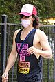 jared leto 30 seconds to mars tank out with a friend 02
